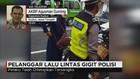 Pelanggar Lalu Lintas Gigit Polisi