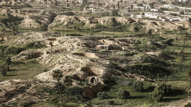FOTO: Rumah-Rumah Bawah Tanah di Tunisia