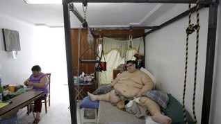 FOTO: Upaya Kurus Pria Tergemuk di Dunia