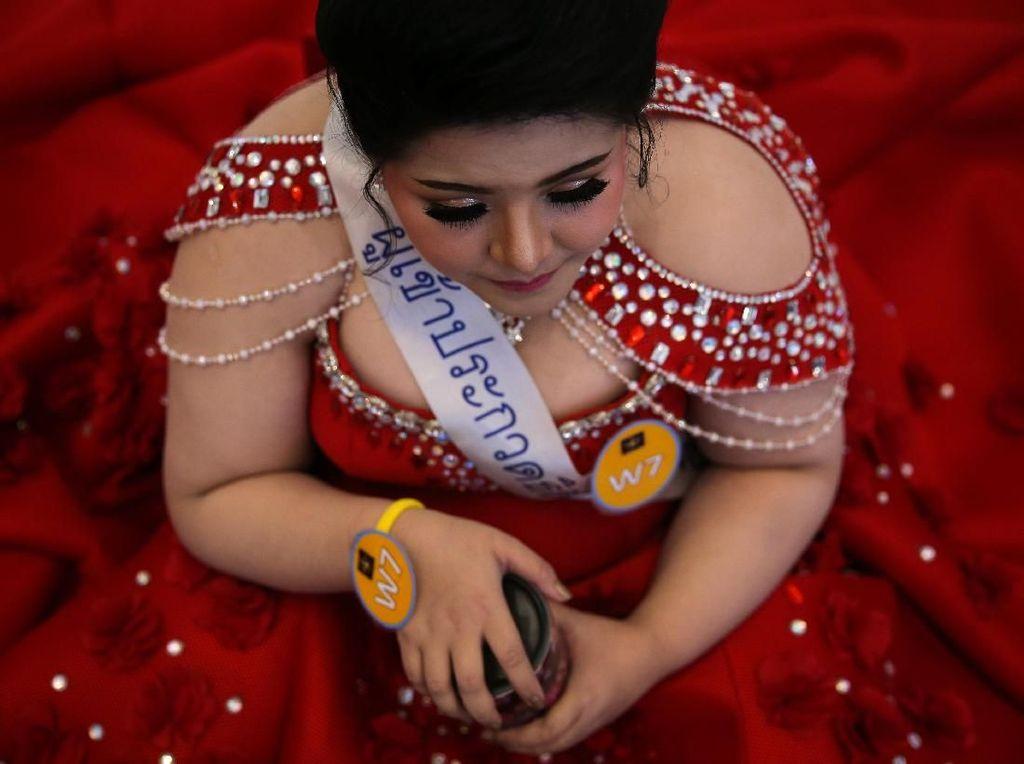 Foto: Kontes Unik di Thailand, Adu Cantik Para Pemilik Tubuh Gemuk