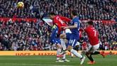 Jesse Lingard kemudian mencetak gol kemenangan Manchester United melalui sundulan pada menit ke-75 setelah menerima umpan silang Romelu Lukaku. (REUTERS/Andrew Yates)