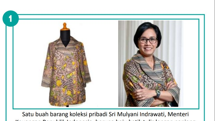 Wah, Batik Sri Mulyani Dilelang Seharga Rp 5 Juta!
