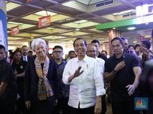 Jokowi: Lagarde Beli Baju Koko untuk Suami di Tanah Abang