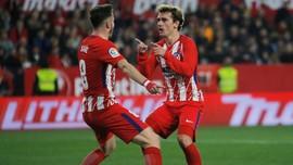 Atletico Hajar Sevilla 5-2, Antoine Griezmann Hattrick