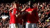 Romelu Lukaku sedang dalam penampilan terbaiknya bersama Manchester United. Pemain asal Belgia itu mencetak tiga gol dan satu assist dalam tiga pertandingan terakhir. (Reuters/Jason Cairnduff)