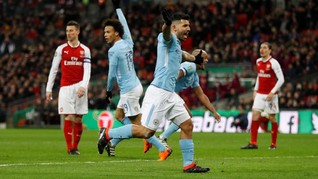 Manchester City Juara Piala Liga Inggris Usai Hajar Arsenal