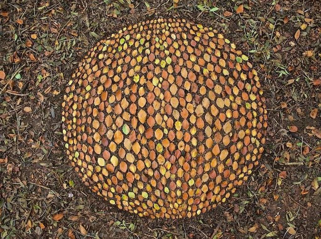 Yang ini bukan terbuat dari batu tapi susunan dedaunan yang berbentuk bulat. Foto: James Brunt/ Pribadi