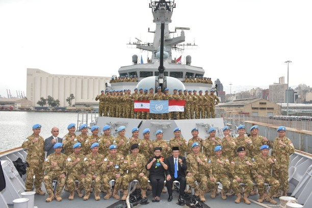 Menlu RI Kunjungi Satgas MTF TNI Konga XXVIII-J di Lebanon
