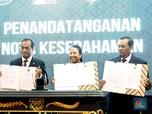 Tiga Menteri Tanda Tangan MoU di Kejaksaan Agung