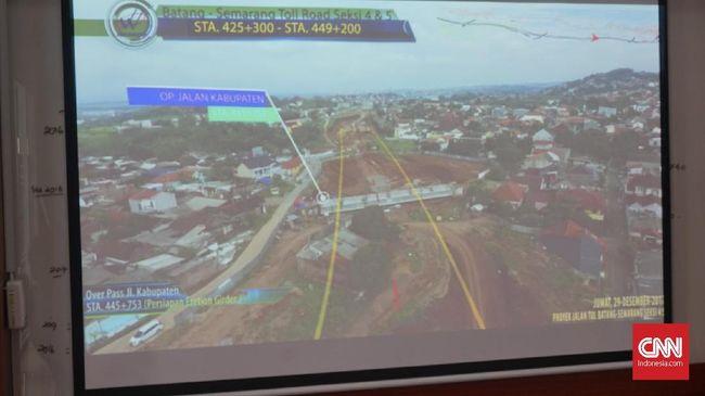 Ganti Rugi Rp50 M Lahan Tol Semarang-Batang Belum Beres