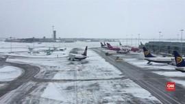 VIDEO: Badai Salju di Eropa, Bandara Dublin Lumpuh
