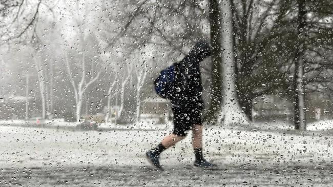Lebih dari 1,7 juta rumah tangga juga tanpa aliran listrik saat badai mulai menghampiri mulai dari Virginia hingga ke Maine. Kantor-kantor pemerintah di Washington juga ditutup ketika angin berkekuatan lebih dari 96 km/jam datang. (REUTERS/Suzanne Barlyn)