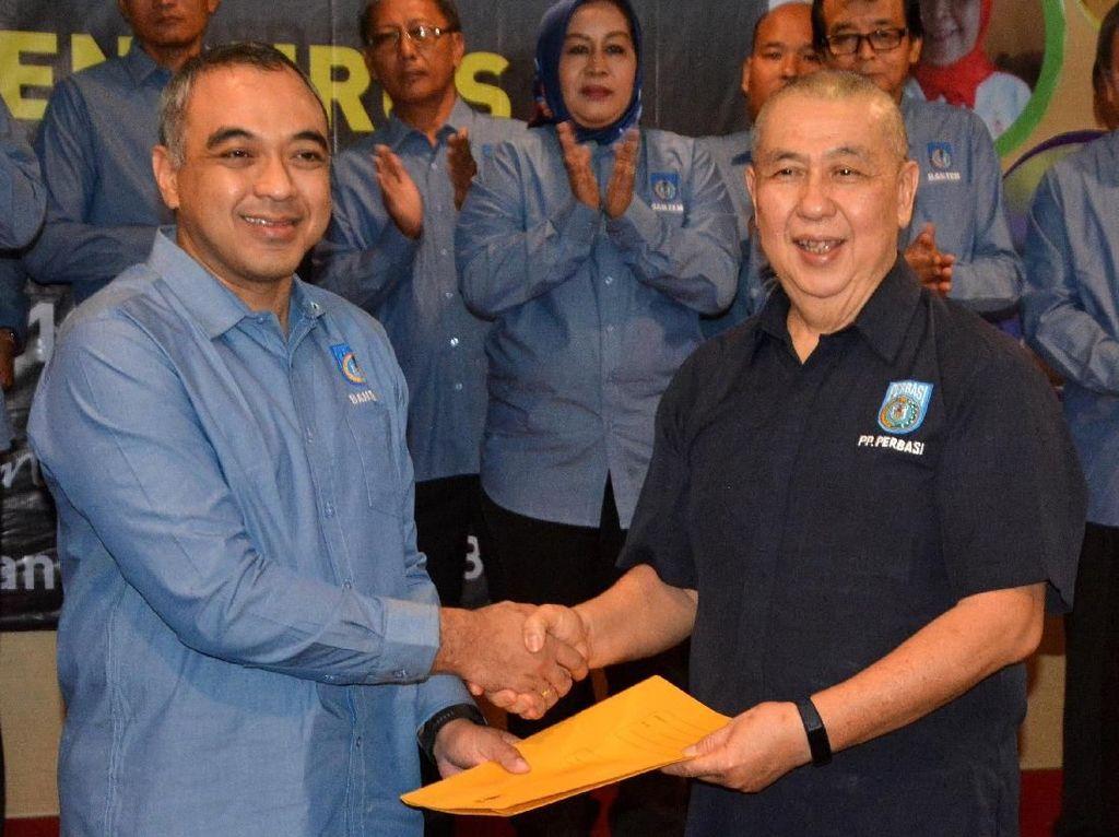Zaki Iskandar resmi memimpin Perbasi Banten periode 2018-2022. Istimewa/Perbasi.