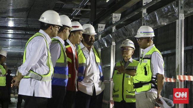 Surya Paloh Dampingi Jokowi Tinjau Proyek MRT