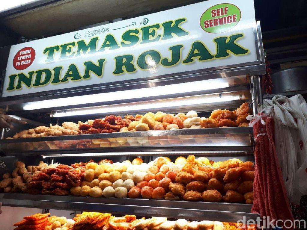 Ini dia salah satu stan penjual Mamak Rojak. Namanya Temasek yang merupakan nama Singapura dulu. Foto: dok. detikFood