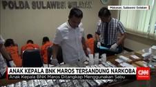 Anak Kepala BNK Maros Ditangkap Menggunakan Sabu
