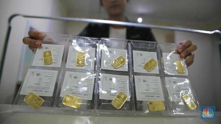 Pasar Investasi Kondusif Pekan Lalu, Harga Emas Antam Turun
