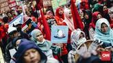 Aksi di Jakarta ini diikuti sekitar 69 organisasi yang berasal dari elemen buruh, masyarakat nelayan, petani,penghayat pemberdayaan, difabel, dan korban kekerasan HAM serta kelompok marjinal lainnya.