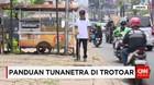 Jalur Trotoar Jakarta Menyesatkan Tuna Netra