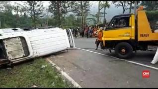 Sopir Minibus Terguling di Tanjakan Emen Jadi Tersangka