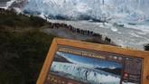 Gletser Perito Moreno di Argentina merupakan salah satu yang terbaik di dunia karena ukurannya besar. Ratusan ribu turis datang ke sini setiap tahunnya.
