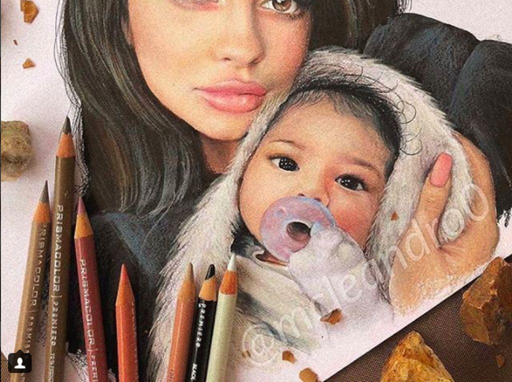 Kehadiran Stormi rupanya membuatpara seniman di Instagram terinspirasi. Foto: Instagram Stormiwebsterfan