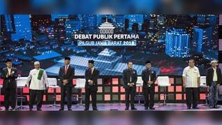 'Pohon Diselubungi Kain' dalam Debat Kandidat Pilgub Jabar