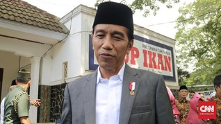 Jokowi Terkecoh Candaan Wartawan di Hari Ulang Tahun