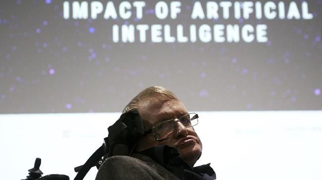 Karya terakhir Hawking adalah'The Grand Design' yang mengungkap pandangan tentang asal-usul alam semesta. (dok. AFP PHOTO / NIKLAS HALLE'N)