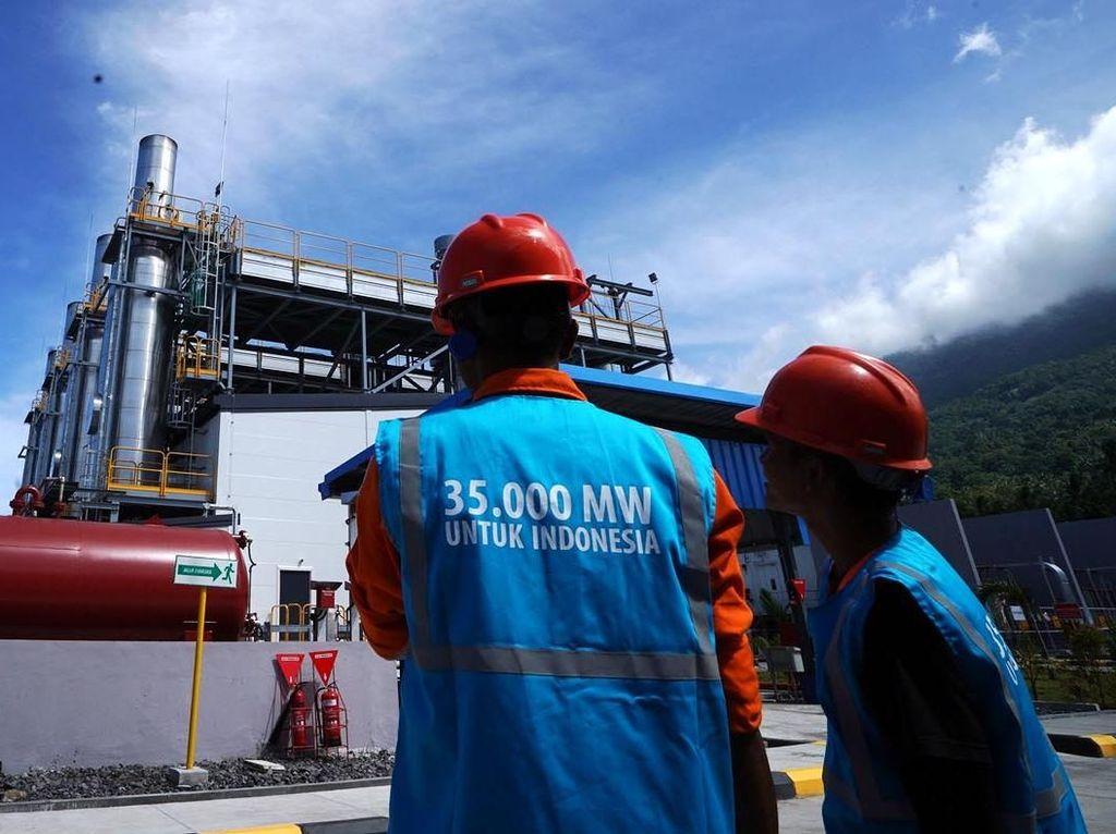 Pembangkit salah satu program 35.000 MW, yakni Pembangkit Listrik Tenaga Mesin Gas Mobile Power Plant (PLTG/MG MPP) Ternate berkapasitas 30 MW telah beroperasi dan memenuhi pasokan listrik ke Sistem Ternate Tidore. Agus Trimukti/Humas PLN.