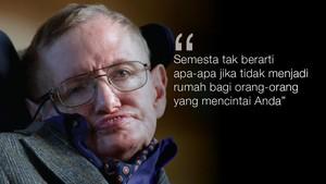 FOTO: Mengenang Stephen Hawking Lewat Kata-kata
