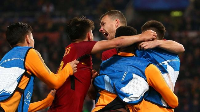 AS Roma Lolos ke Perempat Final Liga Champions