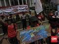 Tolak UU MD3, Massa Demo di Depan Gedung MK