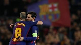 Messi dan Iniesta Sama-sama Koleksi 31 Gelar di Barcelona