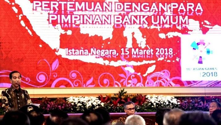Jokowi Bertemu Bos-bos Bank di Istana Negara