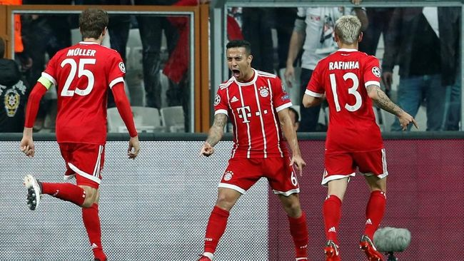 Bayern Munich Unggul 1-0 Atas Besiktas di Babak I