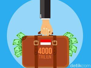 Utang RI Tembus Rp 4.000 Triliun