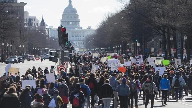 Ratusan Ribu Warga AS Gelar Demo Terbesar soal Senjata