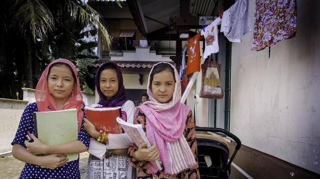 Namun, kepastian mendapat akses ke pendidikan masih belum sepenuhnya mereka dapatkan. (ANTARA FOTO/FB Anggoro)