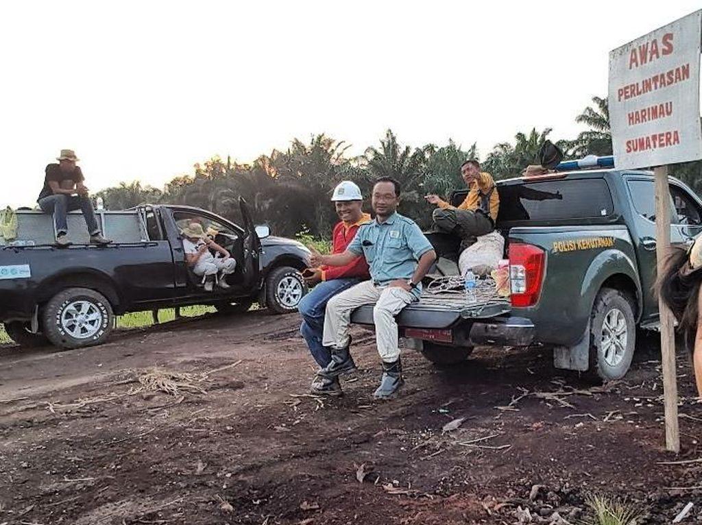 Para pemburu Bonita. Ada 54 orang yang tergabung dalam Tim Rescue Terpadu untuk menyelamatkan Bonita, yang terdiri dari Balai Besar KSDA Riau, Pemerintahan Daerah Kabupten Inhil, Polres Inhil, Kodim Inhil, Yayaan Asari, WWF, PKHS, Veswick, PT TH Indo Plantation, PT Arara Abadi, dan masyarakat Dusun Sinar Danau. (Foto: ist.)