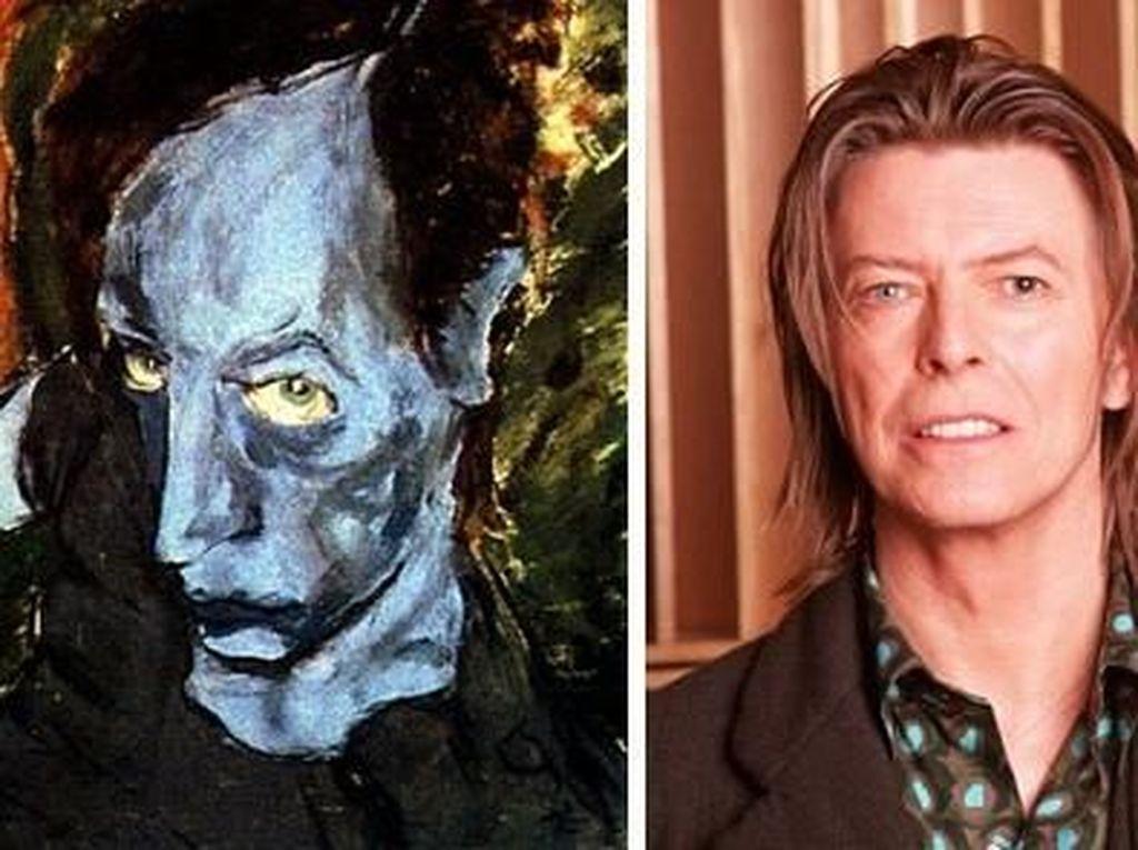David Bowie ternyata tak melupakan ilmu semasa kuliahnya itu. Ia kerap mengaplikasikannya lewat lukisan surealisme yang bisa dilihat di website www.bowieart.com. (Dok. Ist)