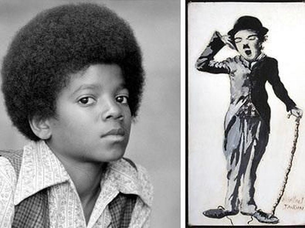 Jika tak jadi penyanyi mungkin Michael Jackson akan beralih sebagai seorang pelukis. Di usianya yang masih 9 tahun, ia sudah melukis potret Charlie Chaplin. (Dok. Ist)
