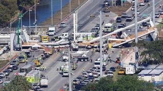 FOTO: Jembatan Florida Ambruk di Hari Keenam