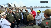VIDEO: Jokowi Jalan Pagi di Sydney Bersama Pemuda Indonesia