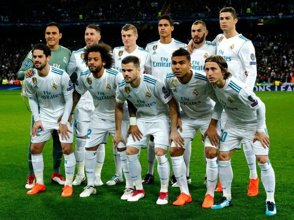 Real Madrid. Klub Spanyol yang kini menempati peringkat pertama daftar klub UEFA tersebut memiliki catatan 28 menang dan 6 kali kalah di delapan besar Piala/Liga Champions. Perempatfinal terakhirnya terjadi pada 2016/2017 saat menang 6-3 dari Barcelona. Di Liga Champions musim ini Madrid meraih 6 kemenangan, 1 kali seri, 1 kekalahan, dengan mencetak 22 gol dan kebobolan 9 gol. (Foto: Gonzalo Arroyo Moreno/Getty Images)