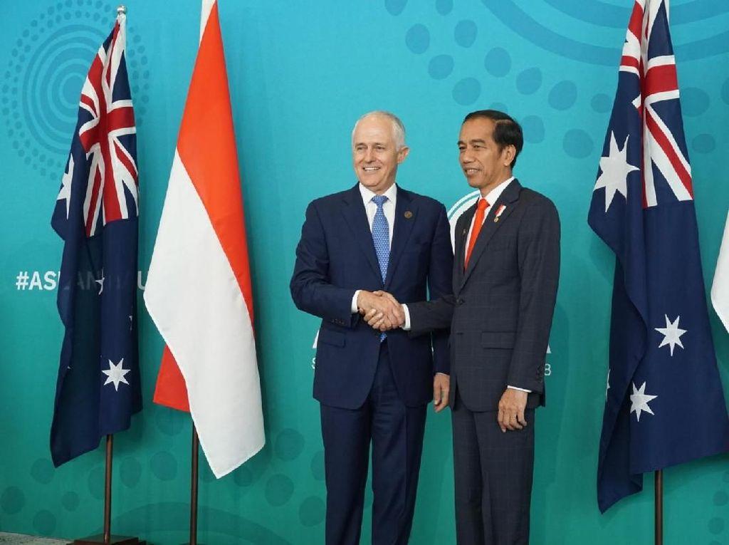 Jokowi bersama Turnbull di Australia. Foto: Aditya Mardiastuti/detikcom