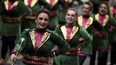 Di Dublin, Irlandia, masyarakat juga menyertakan marching band saat St. Patrick's Day 2018.(REUTERS/Clodagh Kilcoyne)