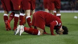 FOTO: Mohamed Salah Cetak Empat Gol, Liverpool Pesta Gol