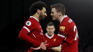 Rekor-rekor Mohamed Salah Usai Ciptakan Quattrick