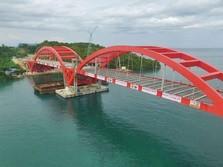 Proyek Jembatan Terpanjang di Timur RI Tuntas Lebih Cepat